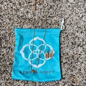 Kendra Scott necklace and earrings